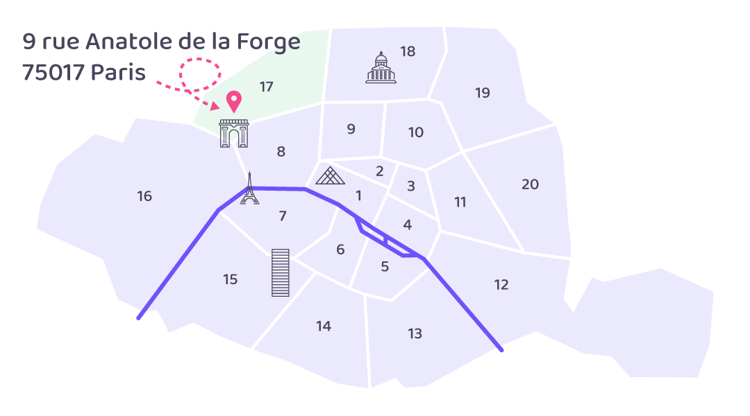 illustration carte paris position easy domiciliation